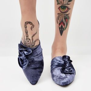 Shoes - Beautiful Velvet Bow Mules